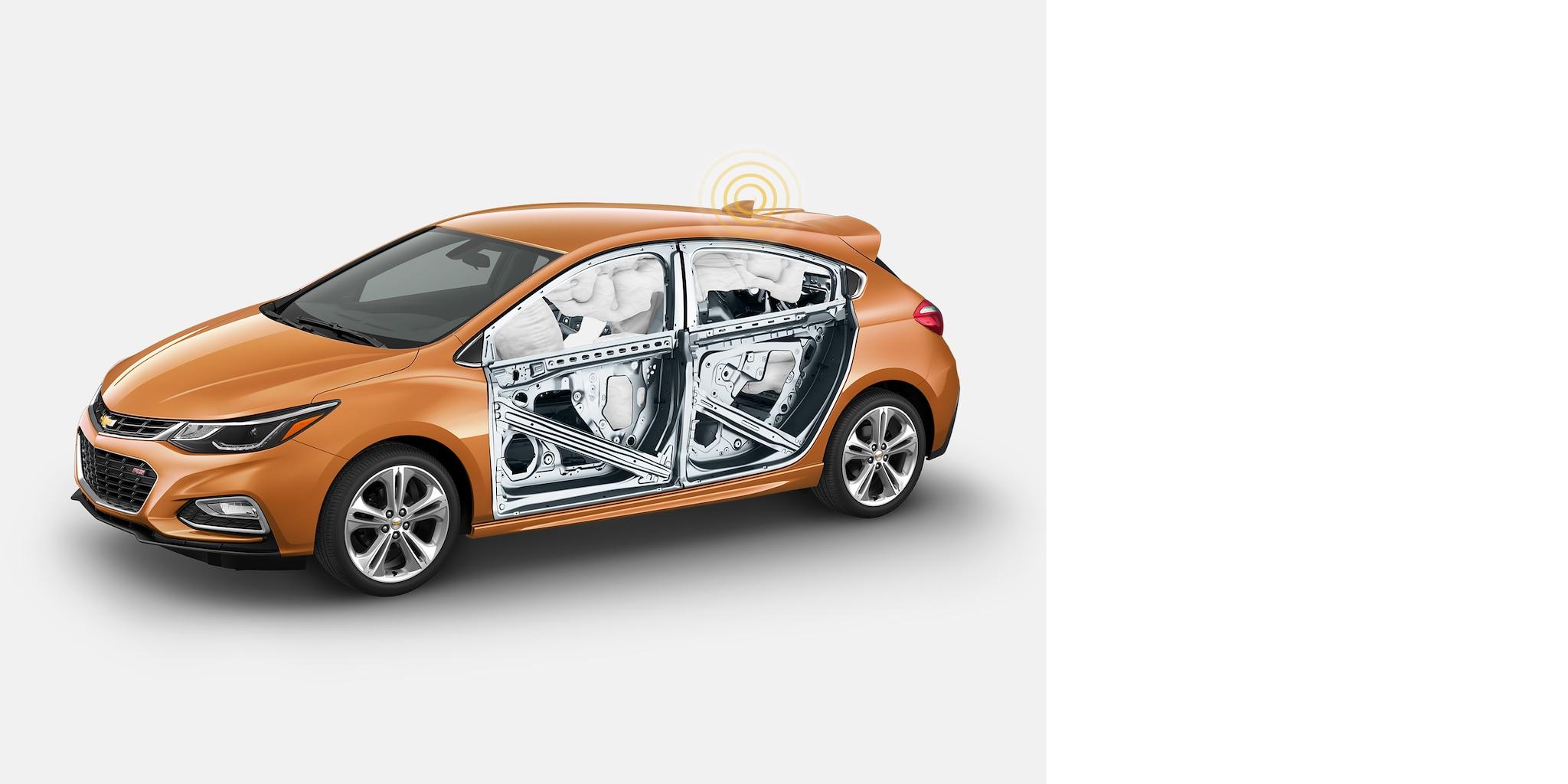 Seguridad del auto compacto Cruze 2018