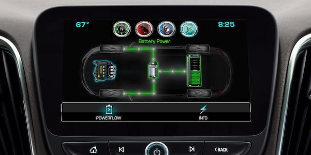 Auto híbrido Chevrolet Malibu 2018: pantalla táctil a colores