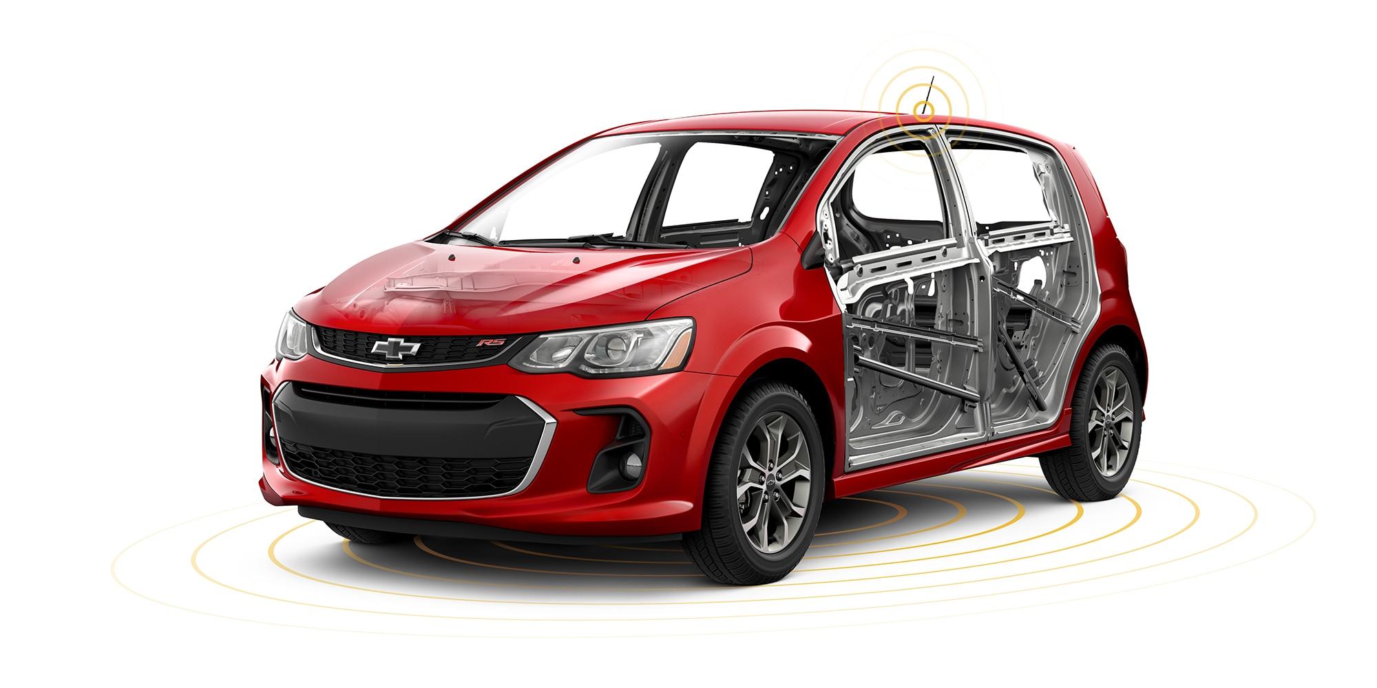 Seguridad del auto compacto Chevrolet Sonic 2018