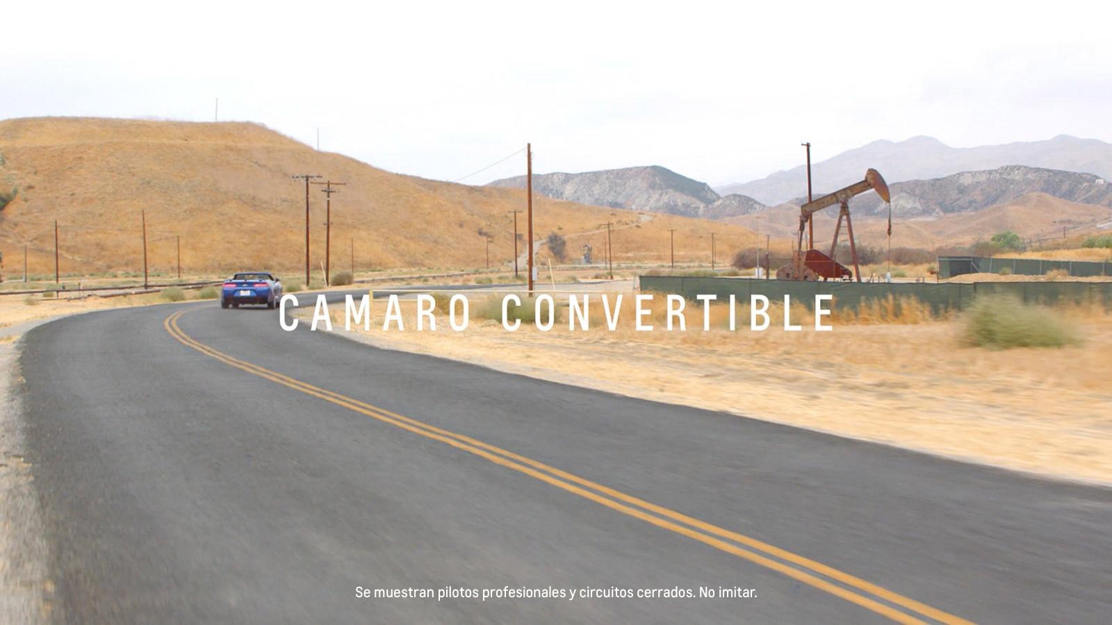 Auto deportivo Camaro 2018: Convertible