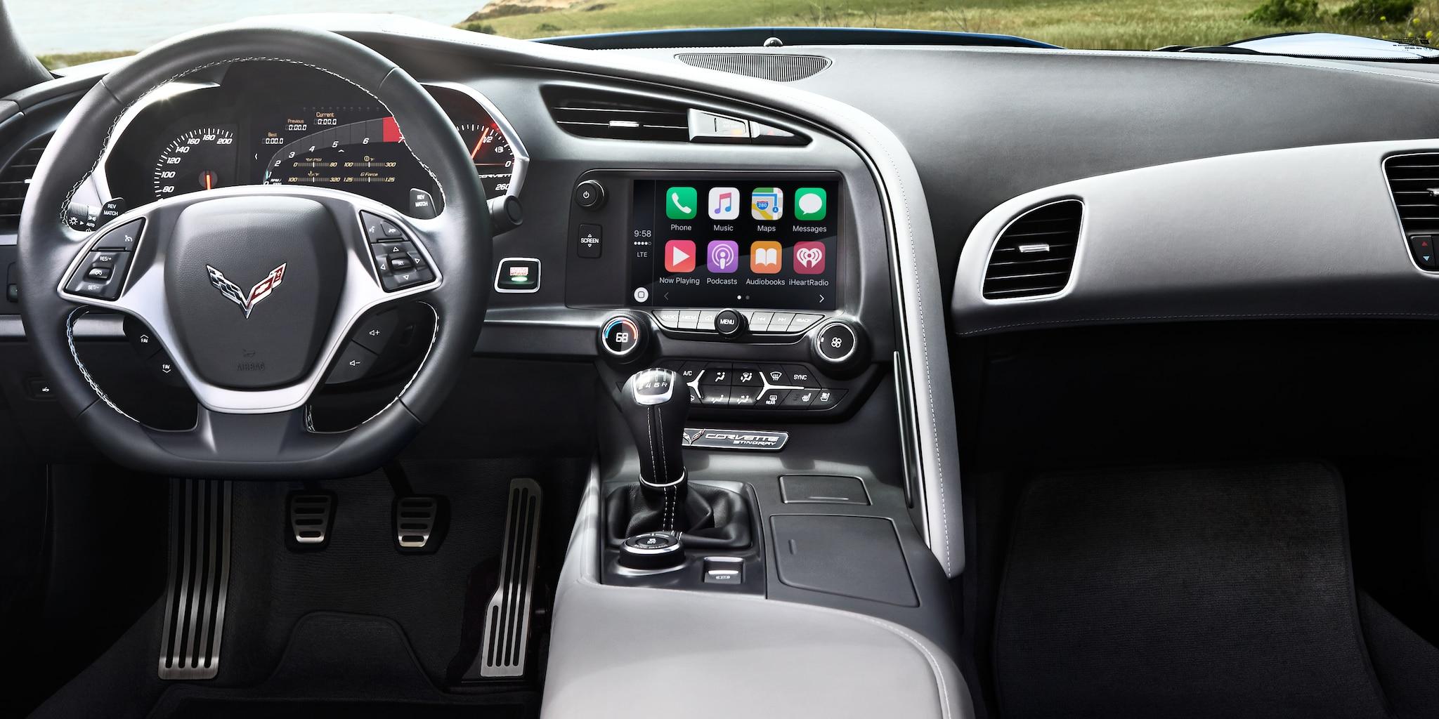 Tecnología del auto deportivo Corvette Grand Sport 2018: Tablero