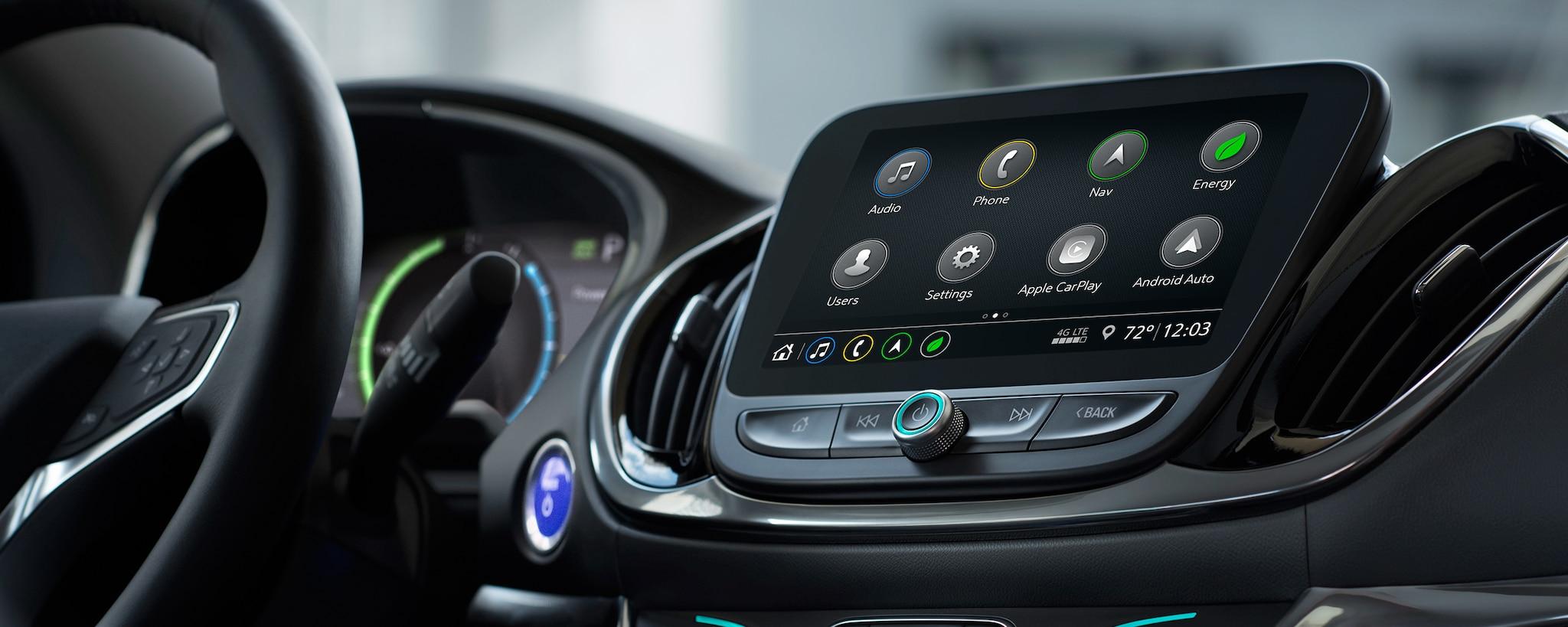 Tecnología del híbrido para enchufar Volt 2019: Radio con pantalla táctil a colores
