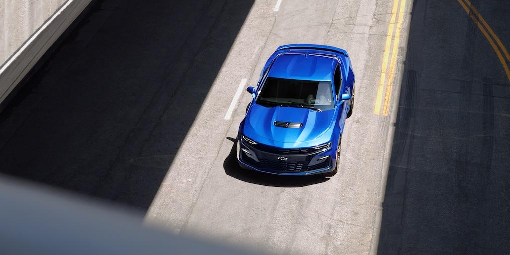 Foto exterior del Camaro 2019: vista de arriba