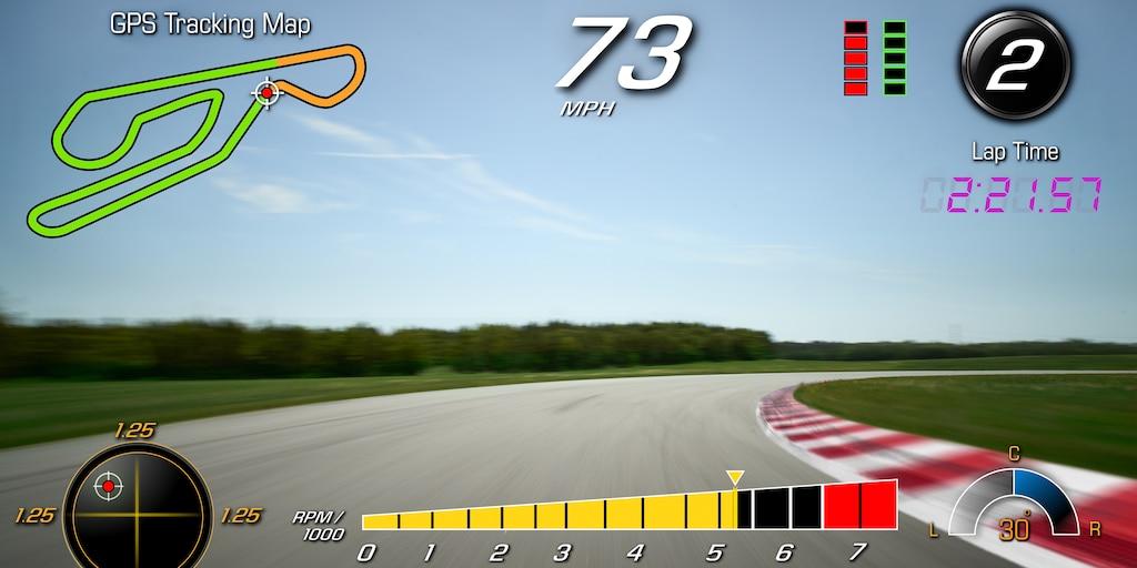 Desempeño del auto deportivo Corvette Grand Sport 2019: grabadora de datos de desempeño