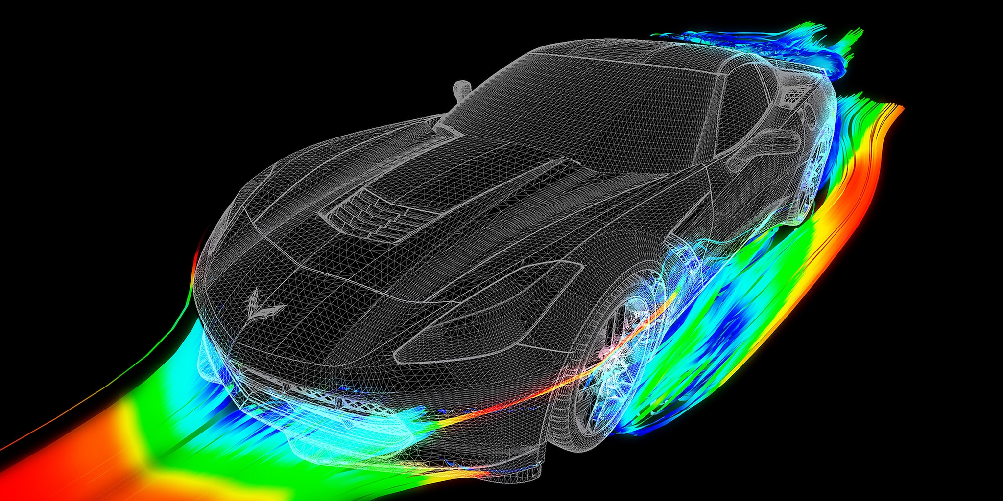 Diseño del auto deportivo Corvette Stingray 2019: Aerodinámica