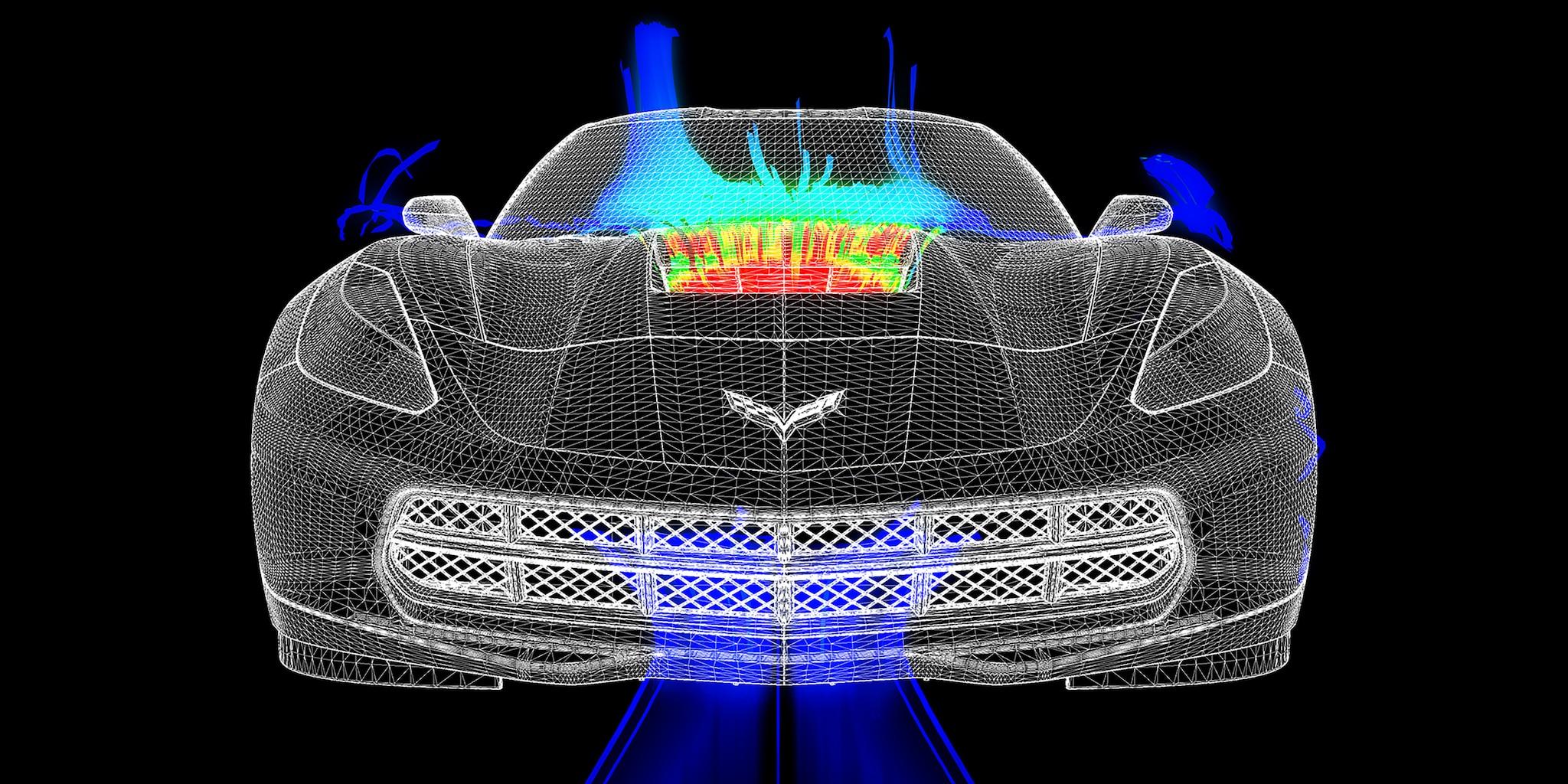 Diseño del auto deportivo Corvette Stingray 2019: Aero 2