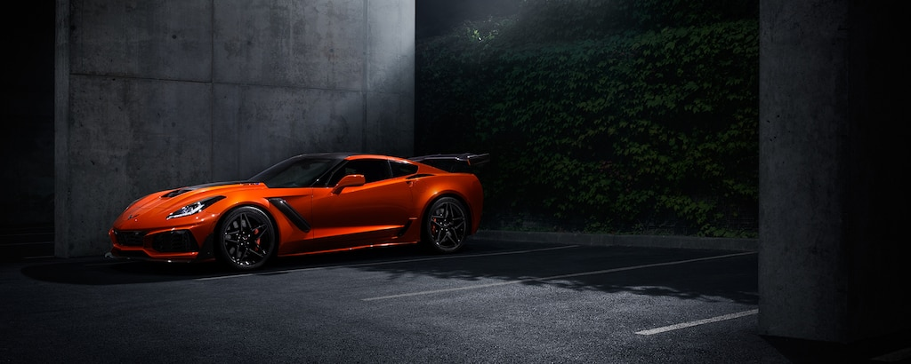 Superauto Corvette ZR1 2019: vista lateral