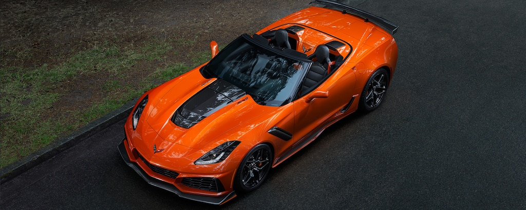 Superauto Corvette ZR1 2019: vista superior