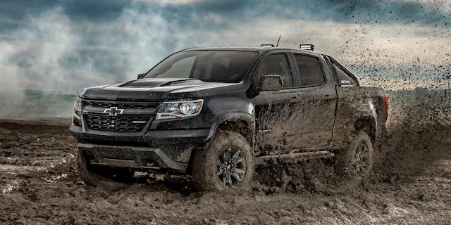 Diseño de la camioneta todo terreno Colorado ZR2 2019: perfil lateral