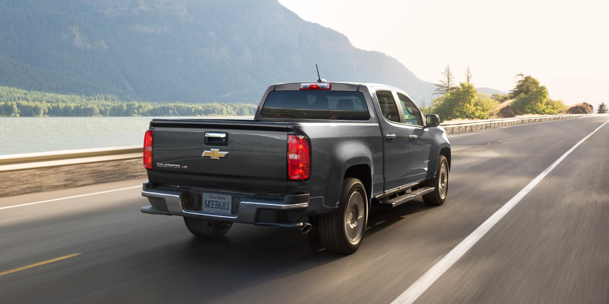 Diseño de la camioneta mediana Colorado 2019: vista trasera