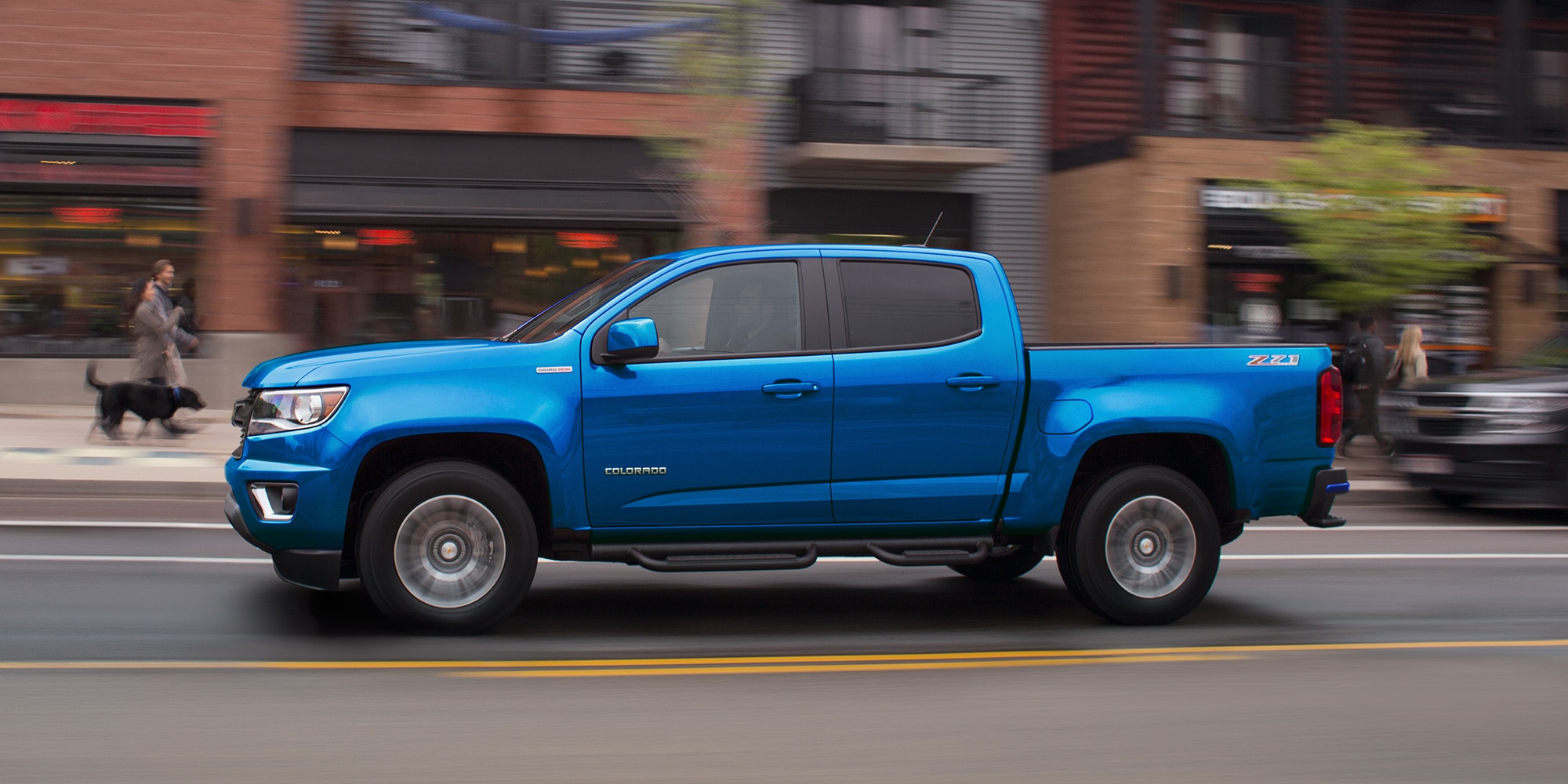 Diseño de la camioneta mediana Colorado 2019: perfil lateral
