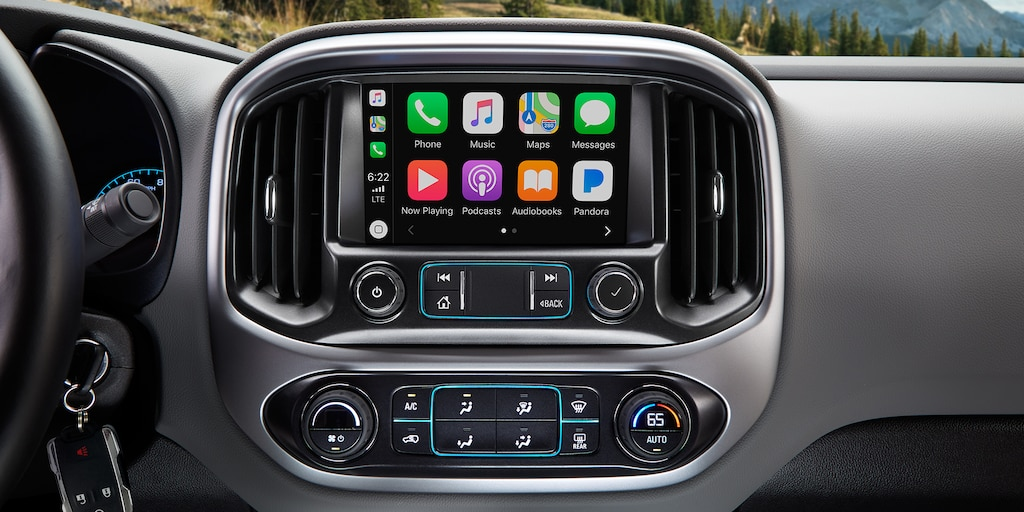 Tecnología de la camioneta mediana Colorado 2019: pantalla táctil a colores