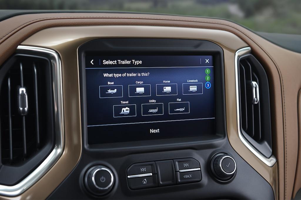 Sistema de remolque integrado en la camioneta Silverado 1500 2019: Pantalla de los perfiles de remolque