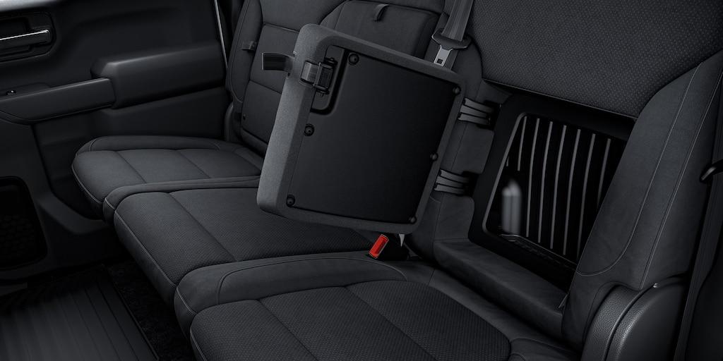 Almacenamiento del asiento trasero de la camioneta comercial de trabajo Silverado LD 2020