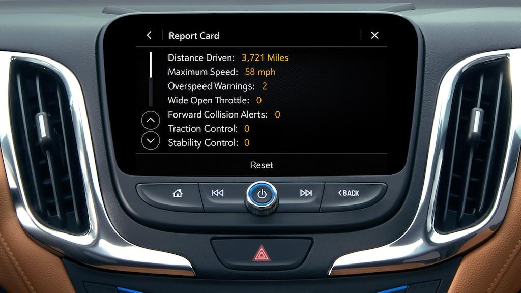 Informe de Teen Driver de la SUV compacta Chevrolet Equinox 2020