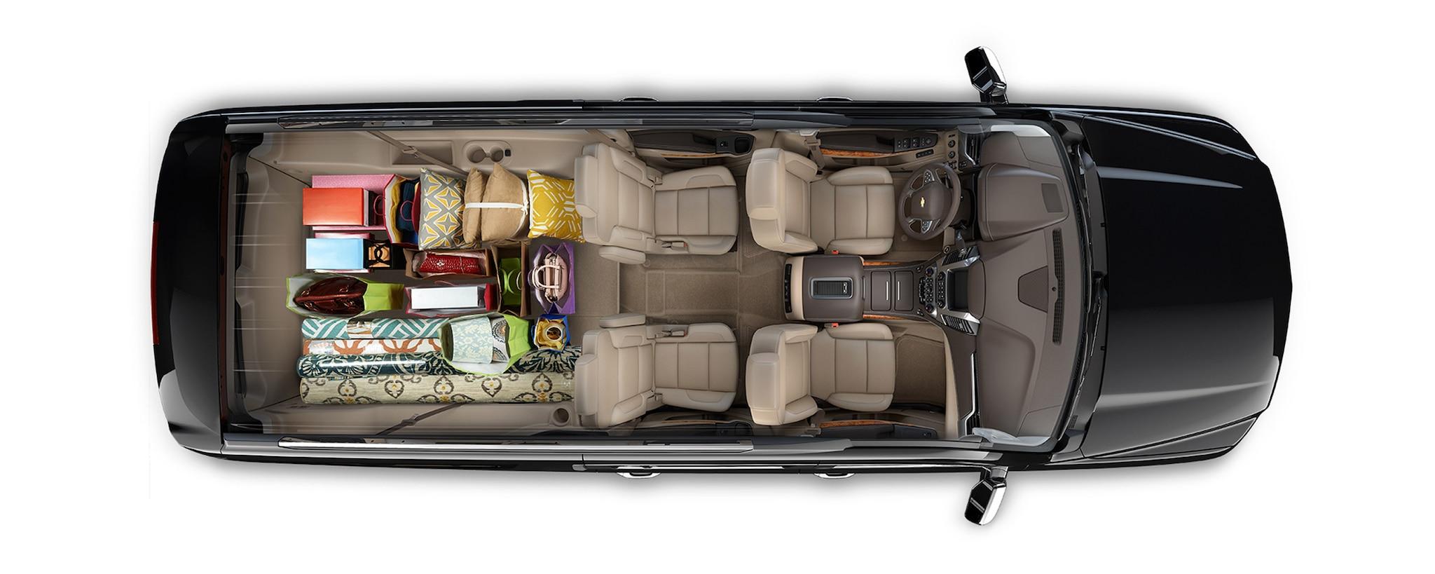 Diseño de SUV grande Suburban 2020: Viaje de compras con espacio de carga en el interior