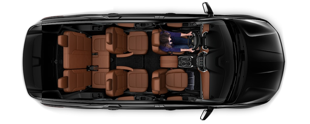 Área de carga de la SUV mediana Traverse 2020: Asientos