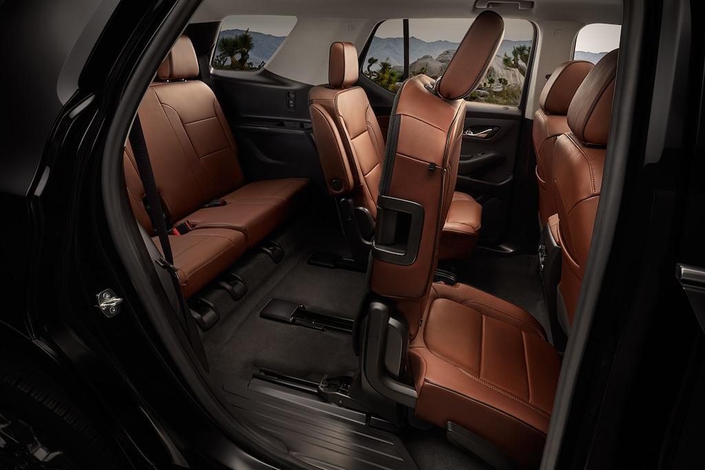 Asientos con correderas Smart Slide en la SUV Chevrolet Traverse 2020 de tamaño mediano