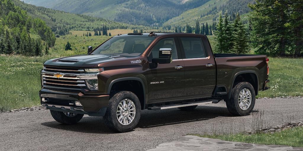 Totalmente nueva camioneta Chevy Silverado HD 2020: vista de perfil