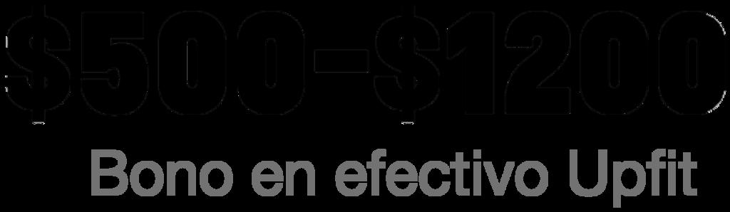 Express Cutaway 2021 - $500-$1,200 bono en efectivo upfit