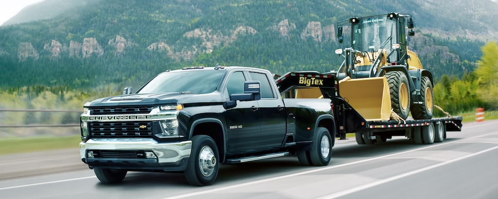 Capacidad de la camioneta de trabajo comercial Silverado HD 2021: Remolque de avanzada