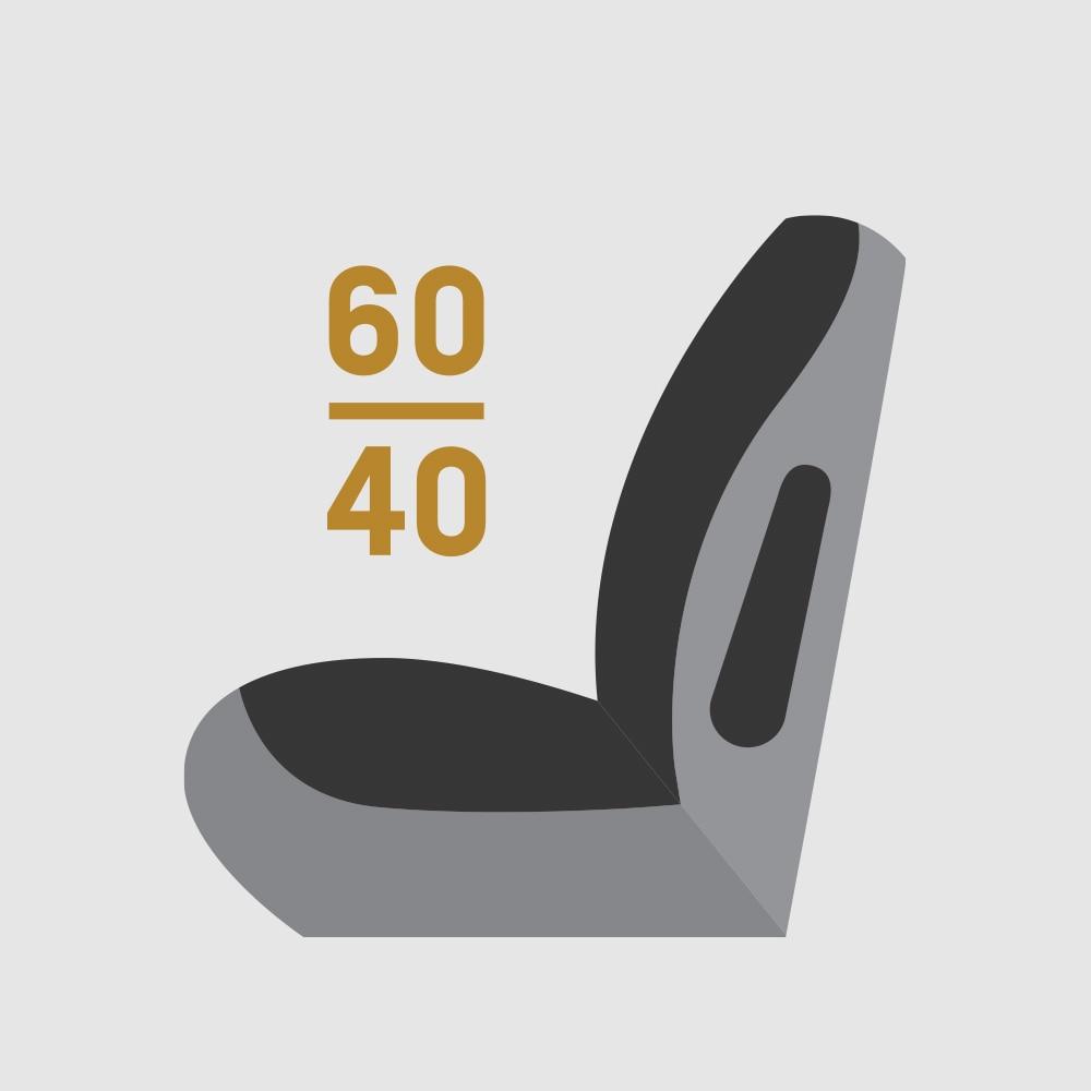 Icono de Asientos plegables divididos 60/40