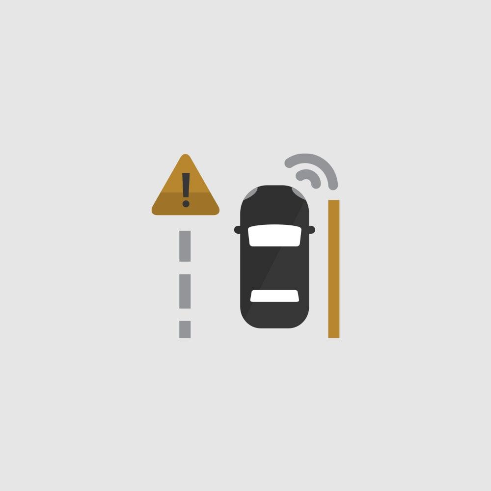 Ícono Lane Keep Assist con Lane Departure Warning