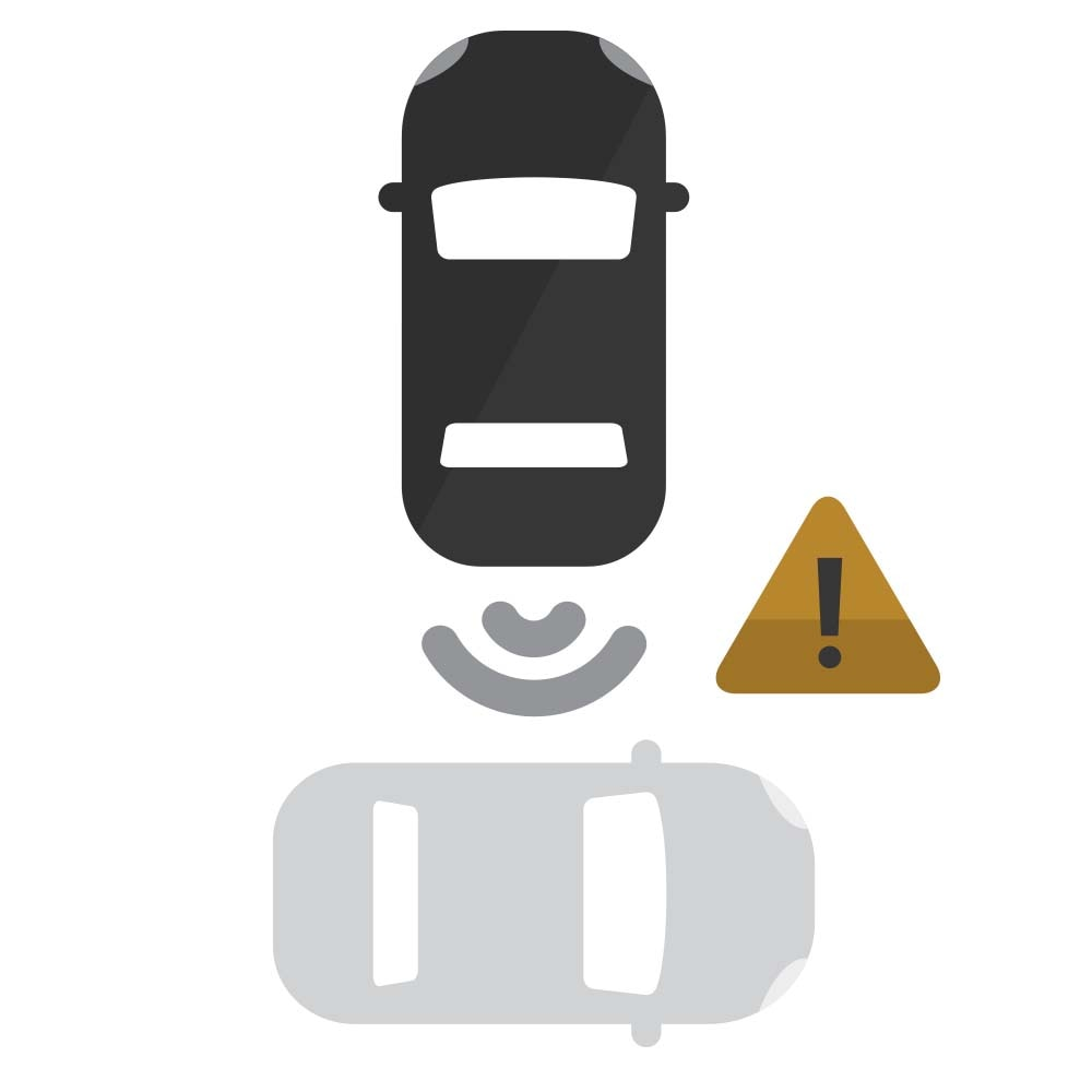 Ícono de Rear Cross-Traffic Alert