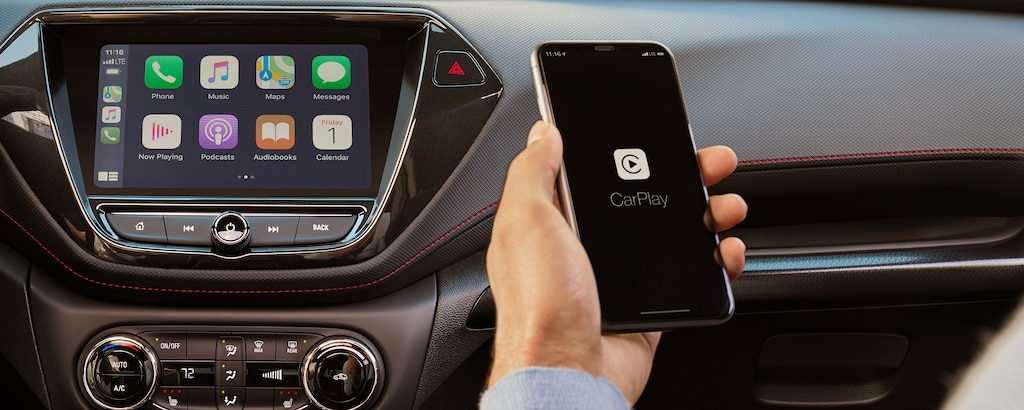 Apple CarPlay y sistema de infoentretenimiento de la Chevy Trailblazer 2021