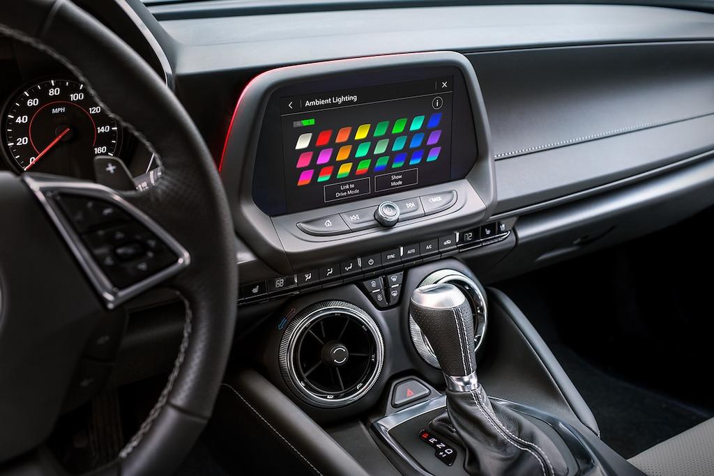 Diseño delChevy Camaro2021: Opciones de iluminación de ambiente