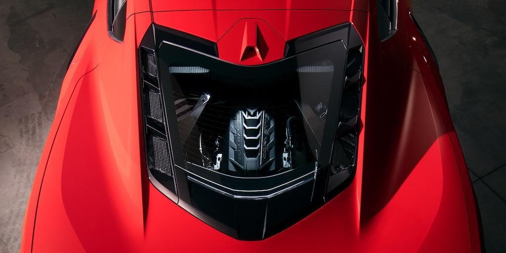 Imagen superior del Corvette 2022
