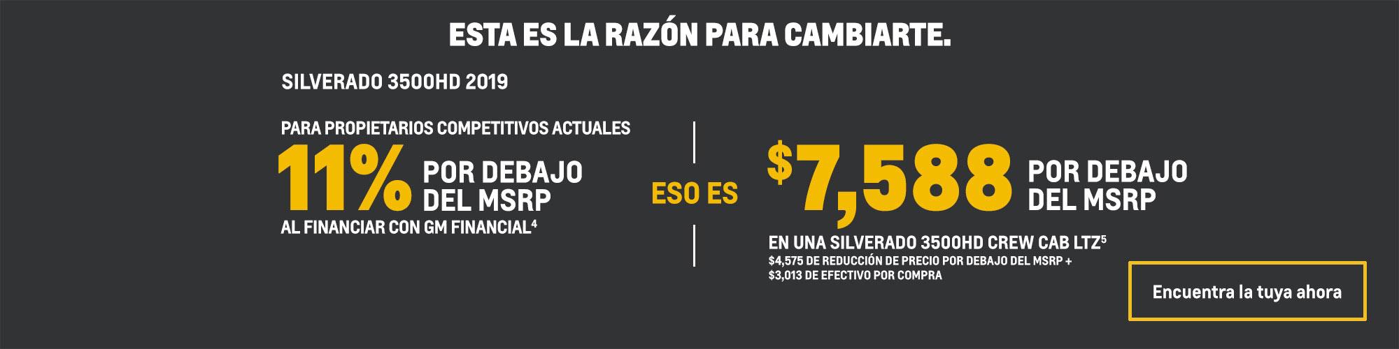 Chevrolet Silverado 3500HD 2019: 11% por debajo del MSRP