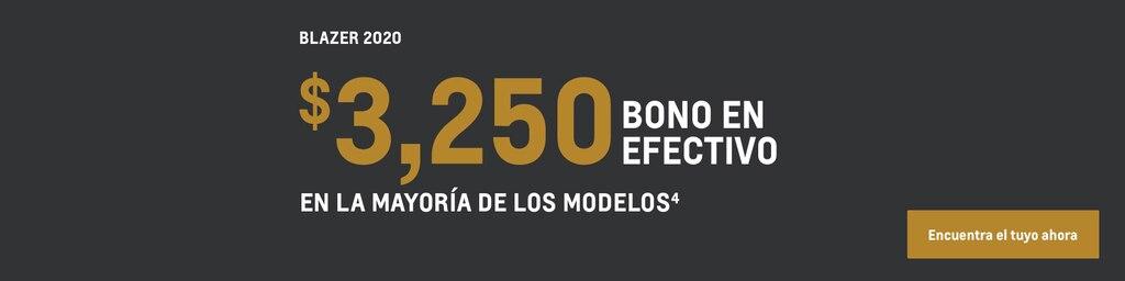 Blazer 2020: $3,250 de bono en efectivo en la mayoría de los modelos(4). Encuentra tu vehículo hoy mismo.