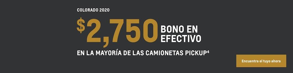 Colorado 2020: $2,750 de bono en efectivo(4). Encuentra tu vehículo hoy mismo.