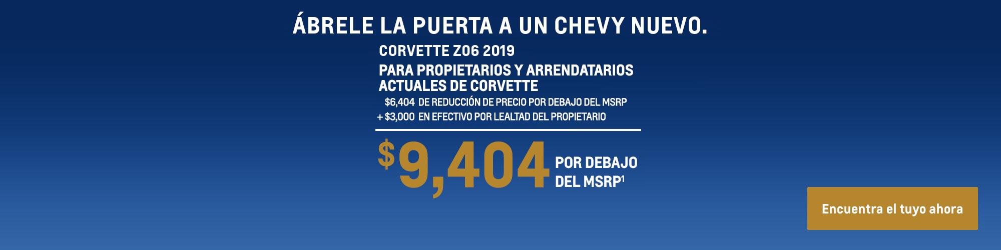 Corvette 2019: $9,404 Por debajo del MSRP