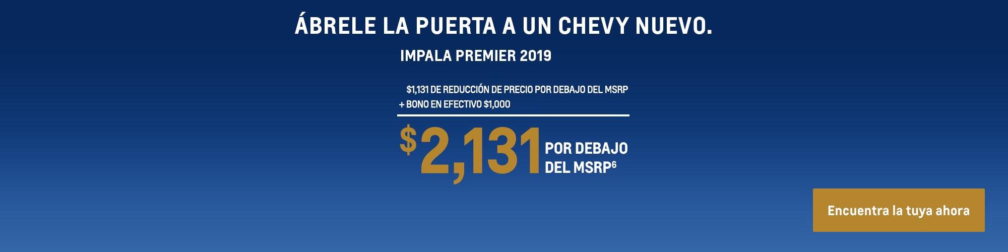 Impala 2019: $2,131 Por debajo del MSRP