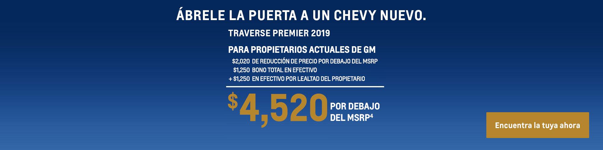 Traverse 2019: $4,520 Por debajo del MSRP