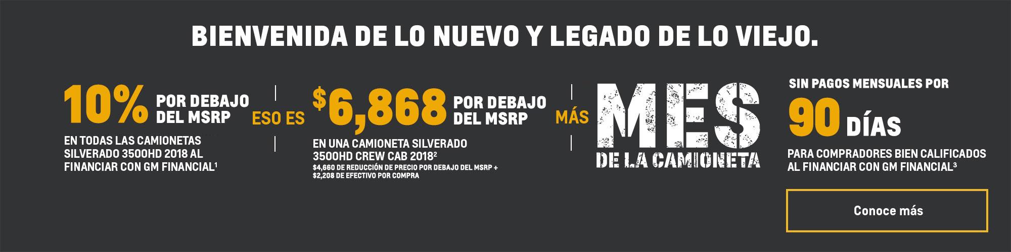 Ofertas del Mes de la Camioneta: Camionetas pickup Silverado 3500HD - 10% por debajo del MSRP