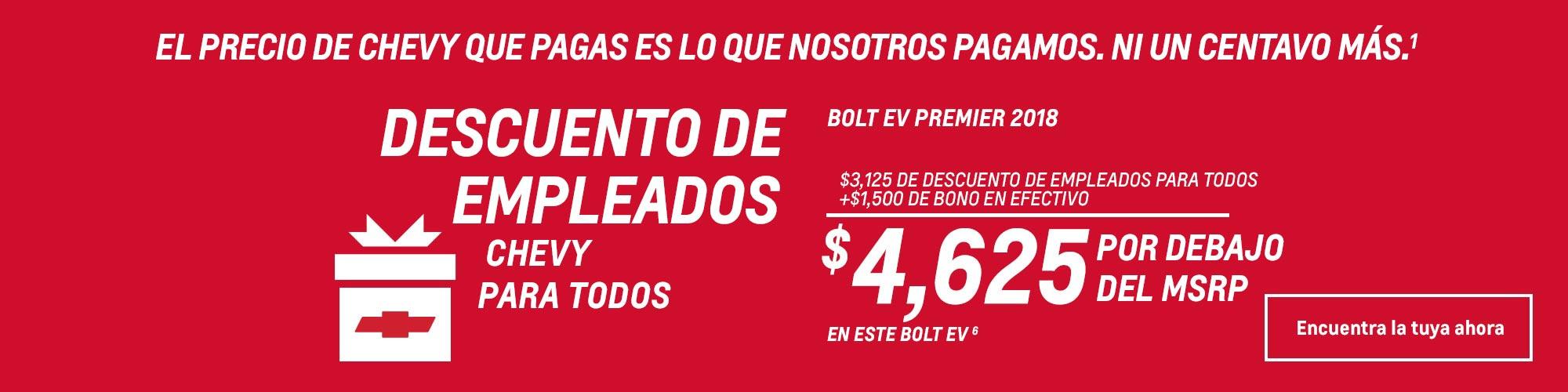 Logo de los descuentos para empleados de Chevy