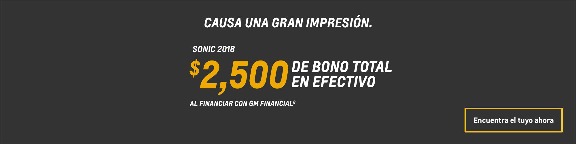 Sonic 2018: $1,500 Bono total en efectivo