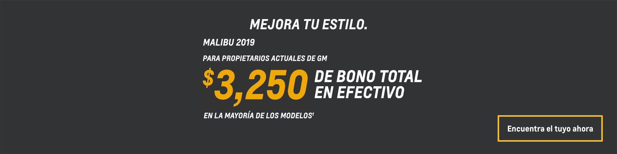 Malibu 2019: $3,250 Bono total en efectivo