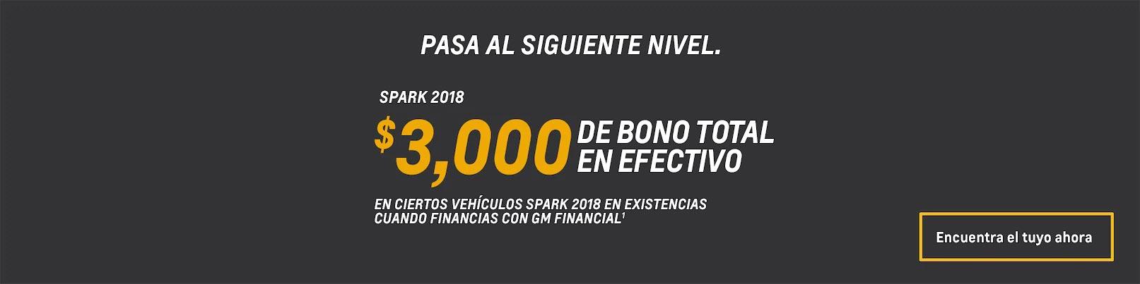 Ofertas en autos subcompactos Spark 2018