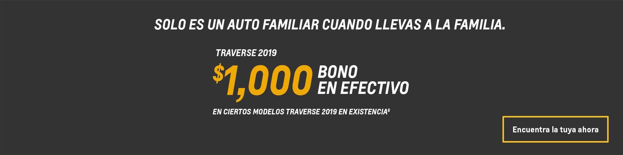 Ofertas en SUV de tamaño mediano Traverse 2019