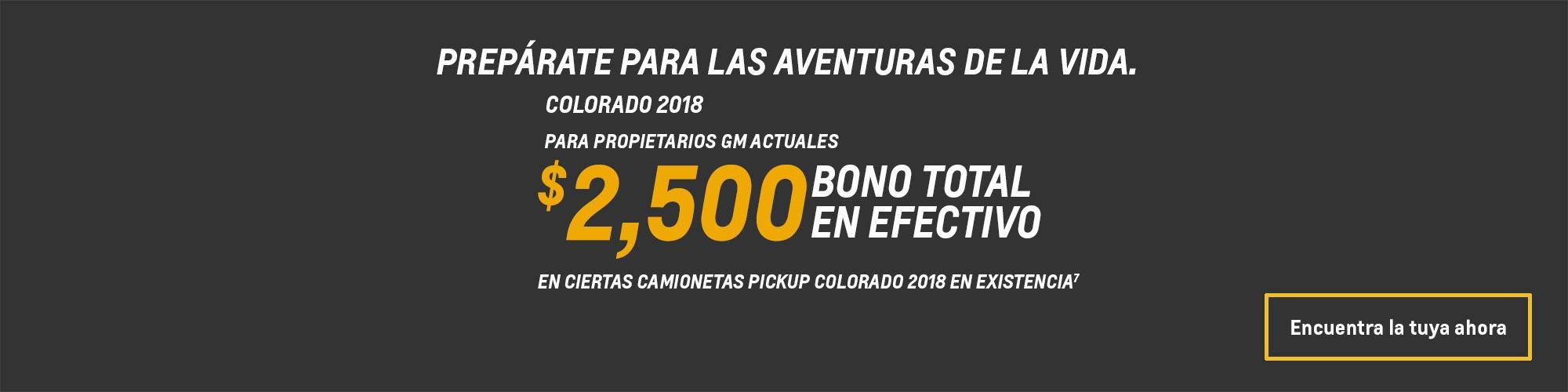 Ofertas en camionetas de tamaño mediano Colorado 2018