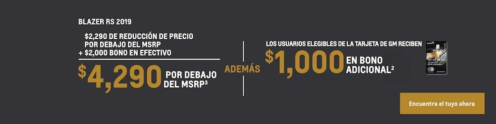 Blazer 2019: $4,290 Por debajo del MSRP