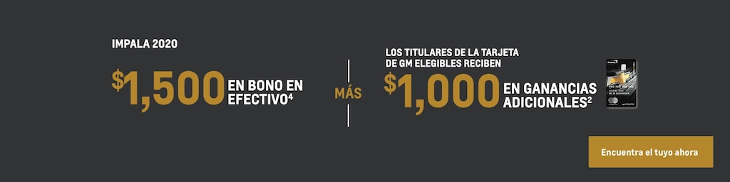 Impala 2020: $1,500 Bono en efectivo