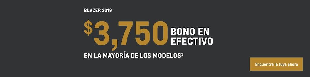 Blazer 2019: $3,750 bono en efectivo en la mayoría de los modelos(3)