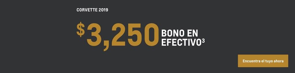 Corvette 2019: $3,250 bono en efectivo.(3) Encuentra el tuyo ahora.