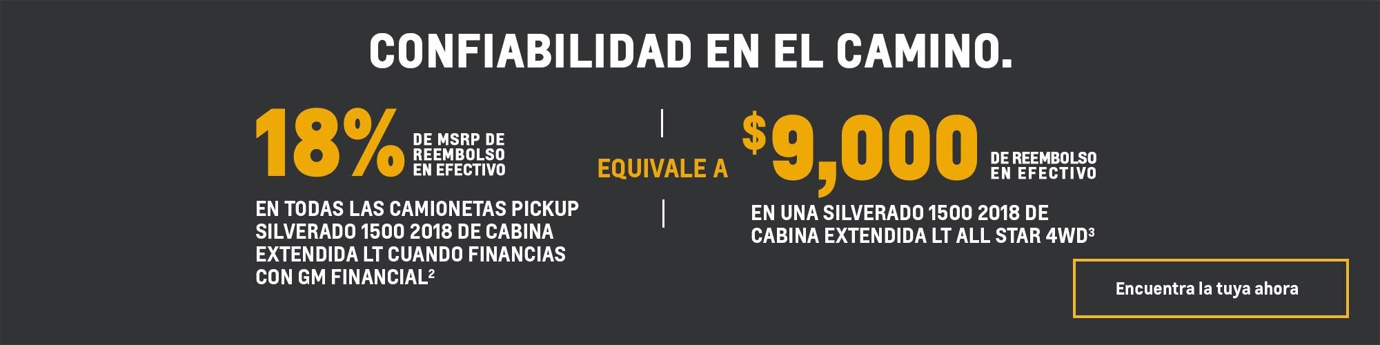 Ofertas actuales de Chevy: Silverado 1500 de cabina extendida LT - 18% de reembolso en efectivo de MSRP