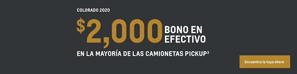 Colorado 2020: $2,000 Bono en efectivo